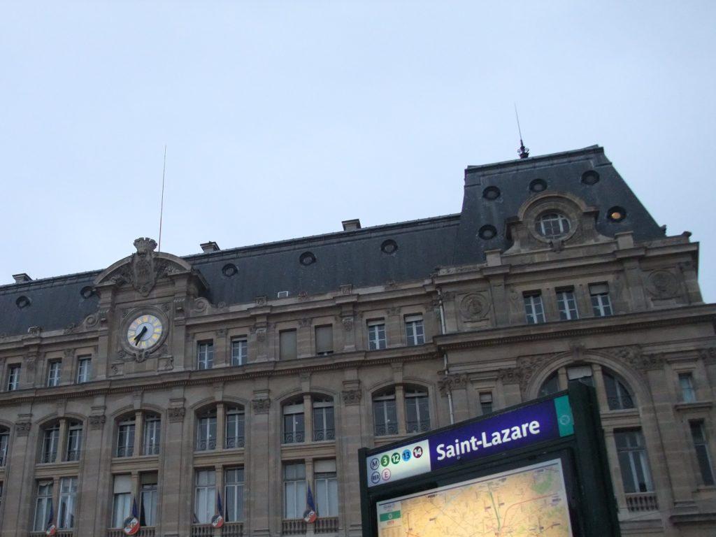 パリ サンラザール駅外観