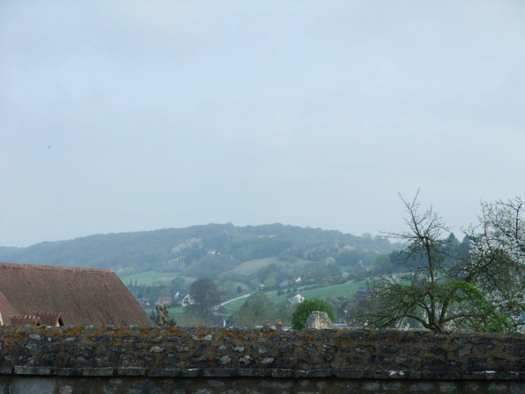 サン・ジョルジュ・ド・ボシェルヴィル修道院の周りの景色