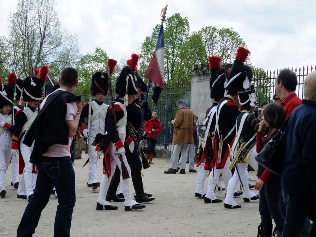フォンテーヌブロー宮殿のナポレオンのイベント行進