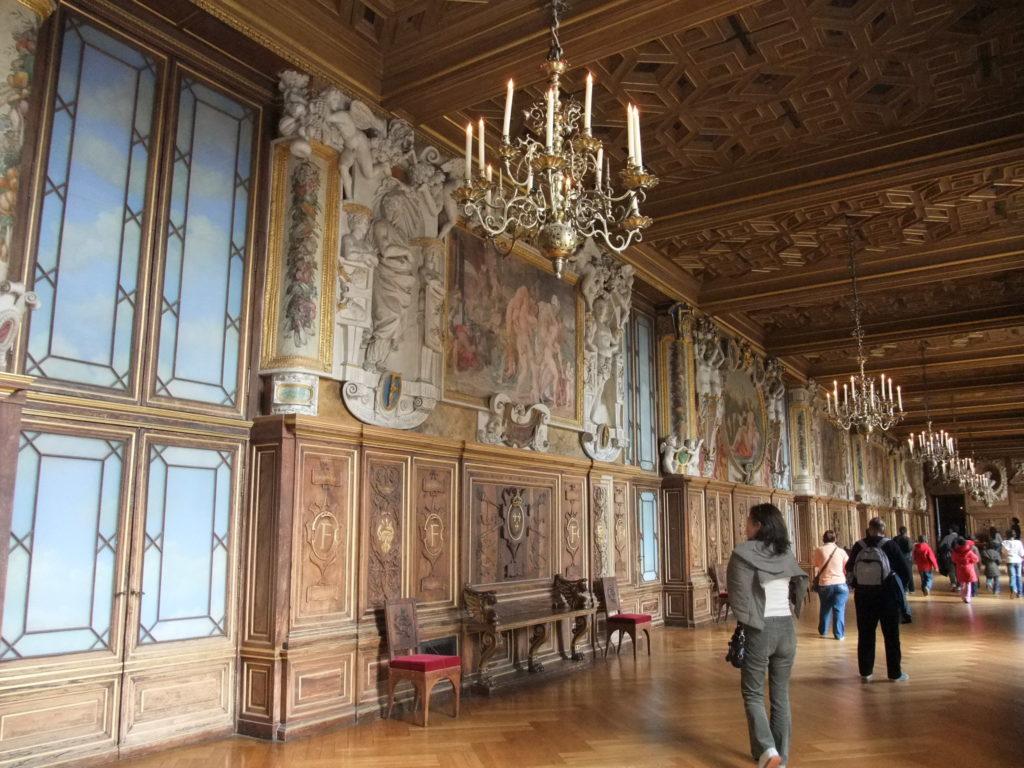 フォンテーヌブロー宮殿のフランソワ1世の回廊