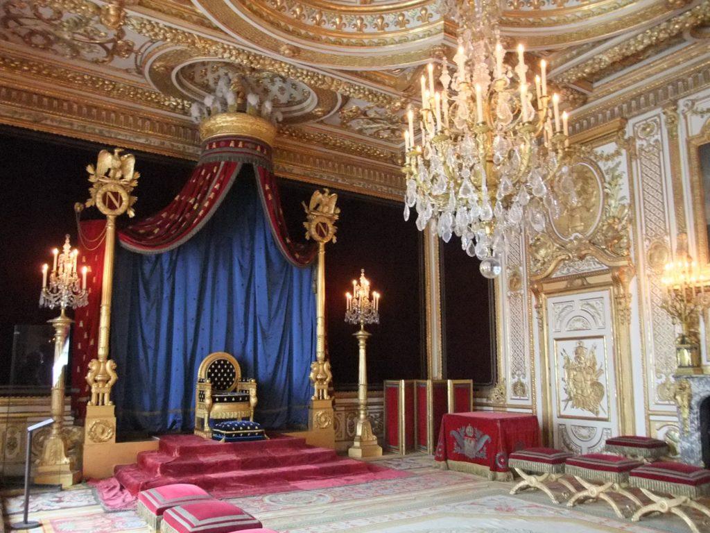フォンテーヌブロー宮殿の王座の間