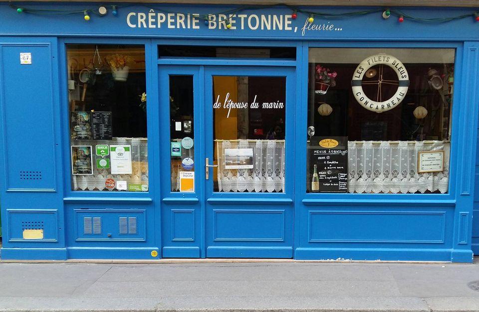 LA CRÊPERIE BRETONNE FLEURIE DE L'ÉPOUSE DU MARINの店の外観